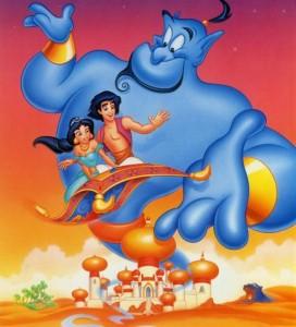 Como se llama el genio de Aladdin