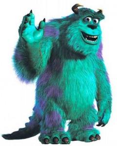 Como se llama el monstruo azul de la película Monster Inc