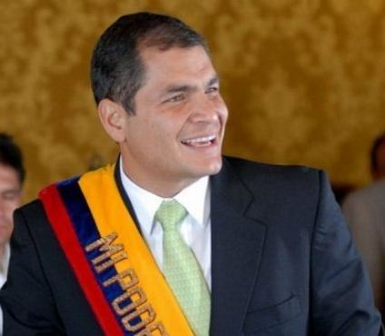Como se llama el presidente de Ecuador Rafael Correa Delgado