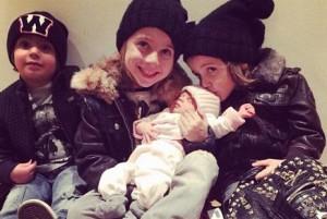 Como se llaman los hijos de Wanda Nara Valentino, Constantino, Benedicto y Francesca