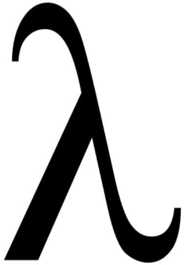 Como se llama este simbolo λ