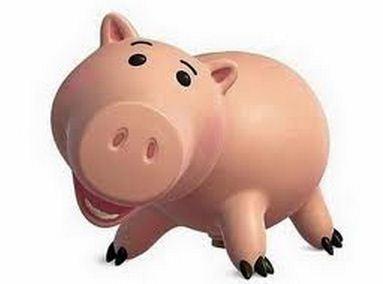 Como se llama el cerdito rosa de Toy Story Ham