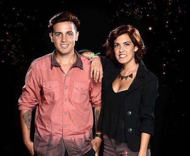 Jonathan Frutos y Melanie Vargas