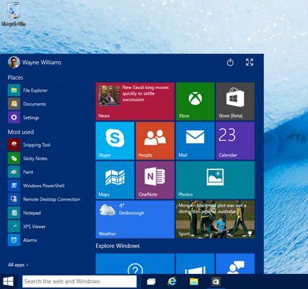 Como se llama el nuevo Windows