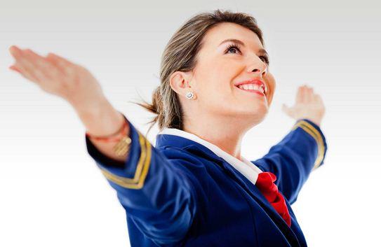 Como se llaman las que trabajan en los aviones