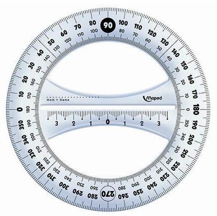 Como se llama el instrumento para medir los ángulos transportador