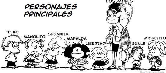 Como se llaman los personajes de Mafalda