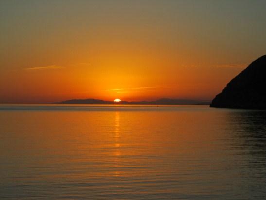 Como se llama la puesta del sol