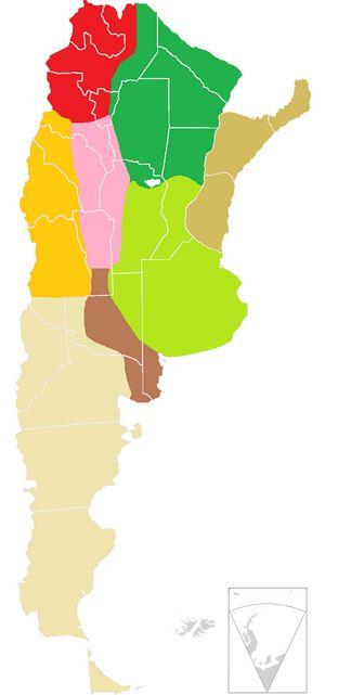 Como se llaman las regiones de Argentina