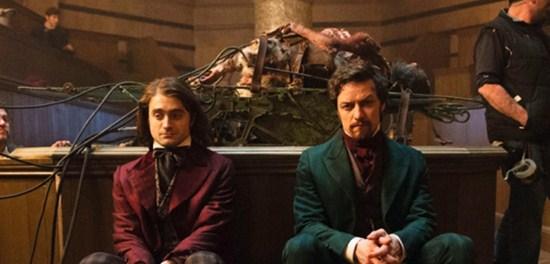 Como se llaman los actores de la película Victor Frankenstein