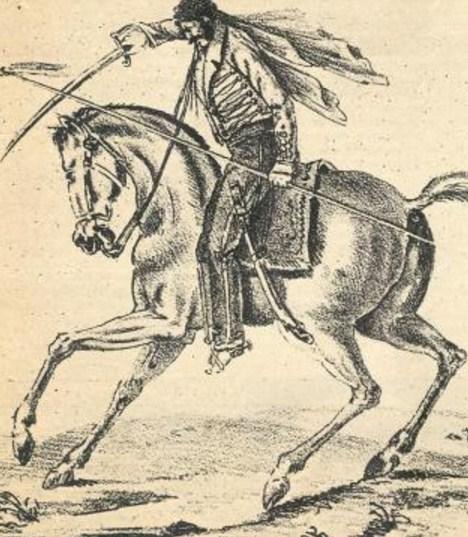 Como se llamaba el caballo de Quiroga