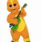 Como se llama el personaje naranja de Barney