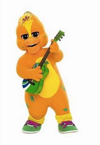 Personaje naranja de Barney nombre