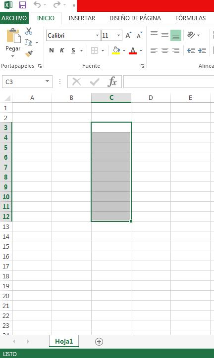 Como se llama el conjunto de celdas en Excel