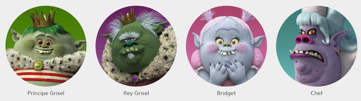 Personajes de trolls todos los nombres