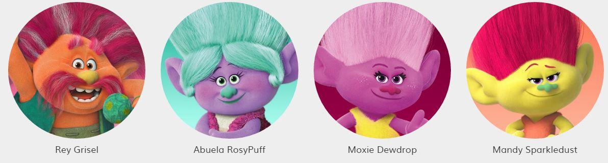 Trolls personajes