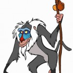 Como se llama el mono del Rey León