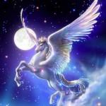 Como se llamaba el caballo de Zeus Dios del Olimpo